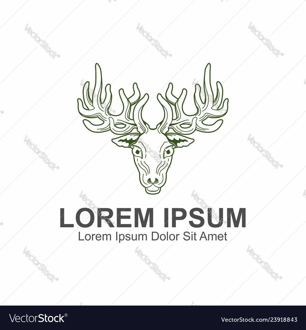 Deer vintage logo