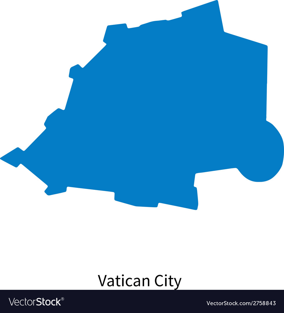 Detailed map of Vatican City