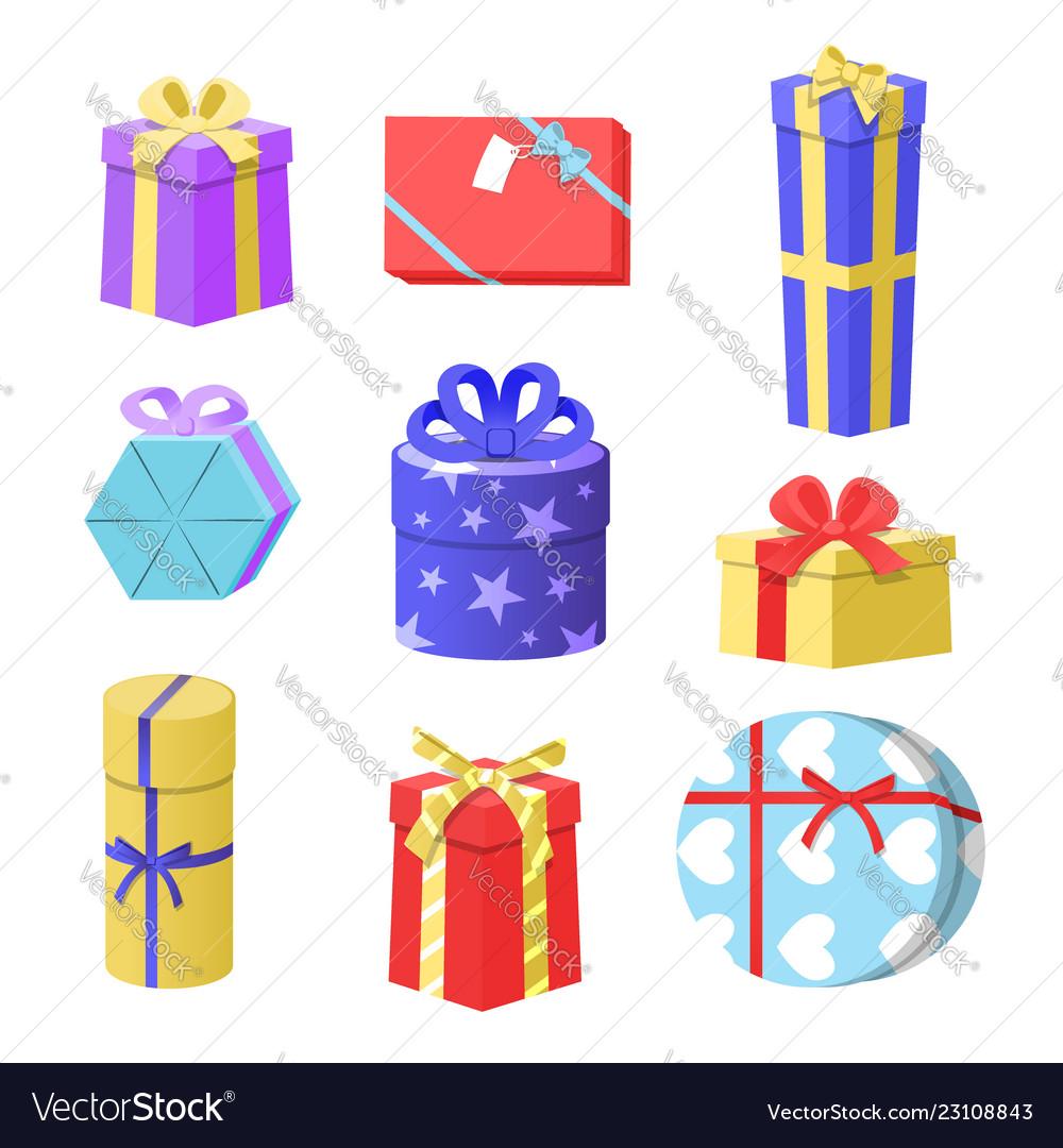 Gift Boxes Christmas Gift Royalty Free Vector Image