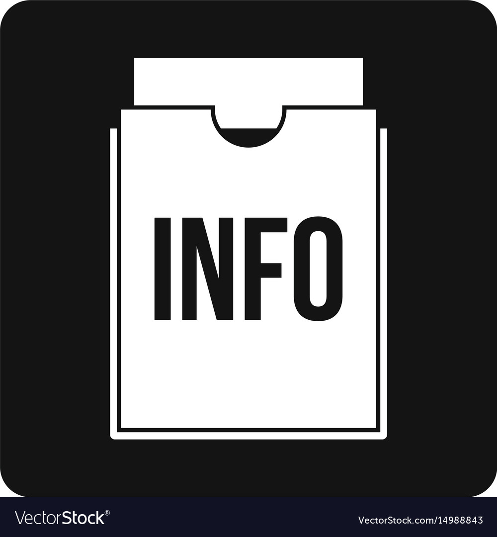 Info folder icon simple vector image