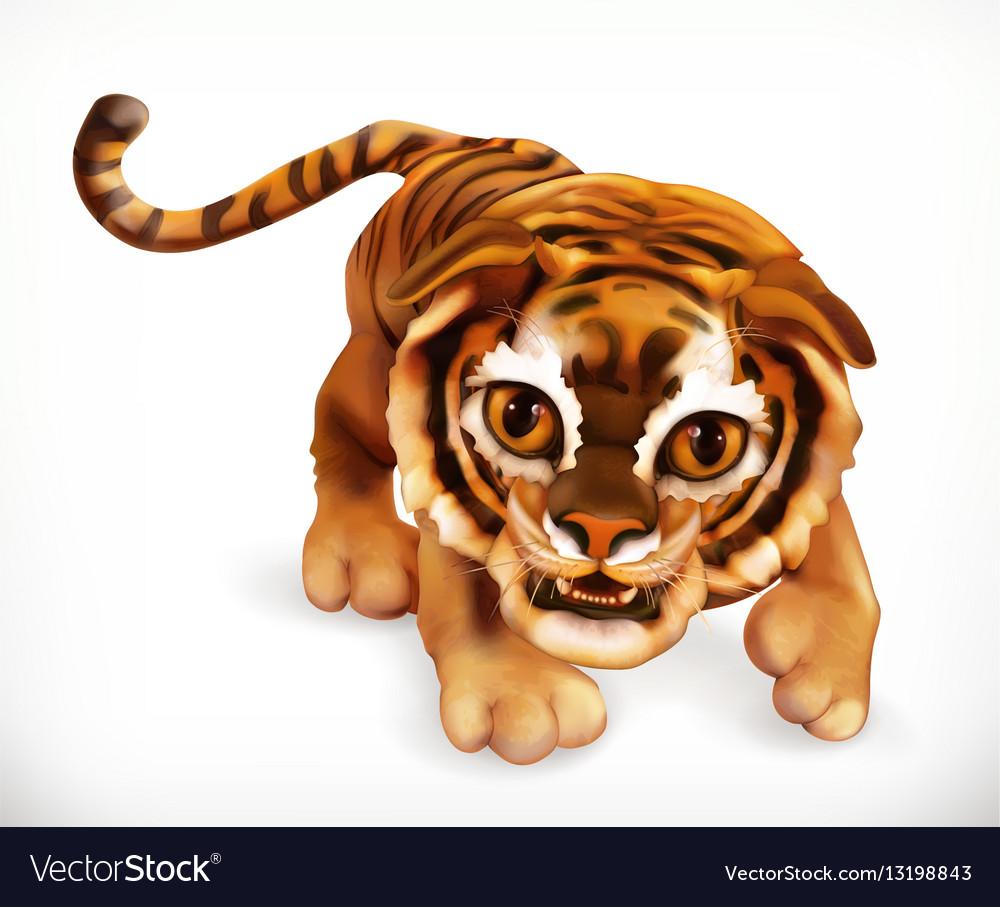 Tiger cub Funny animal 3d icon