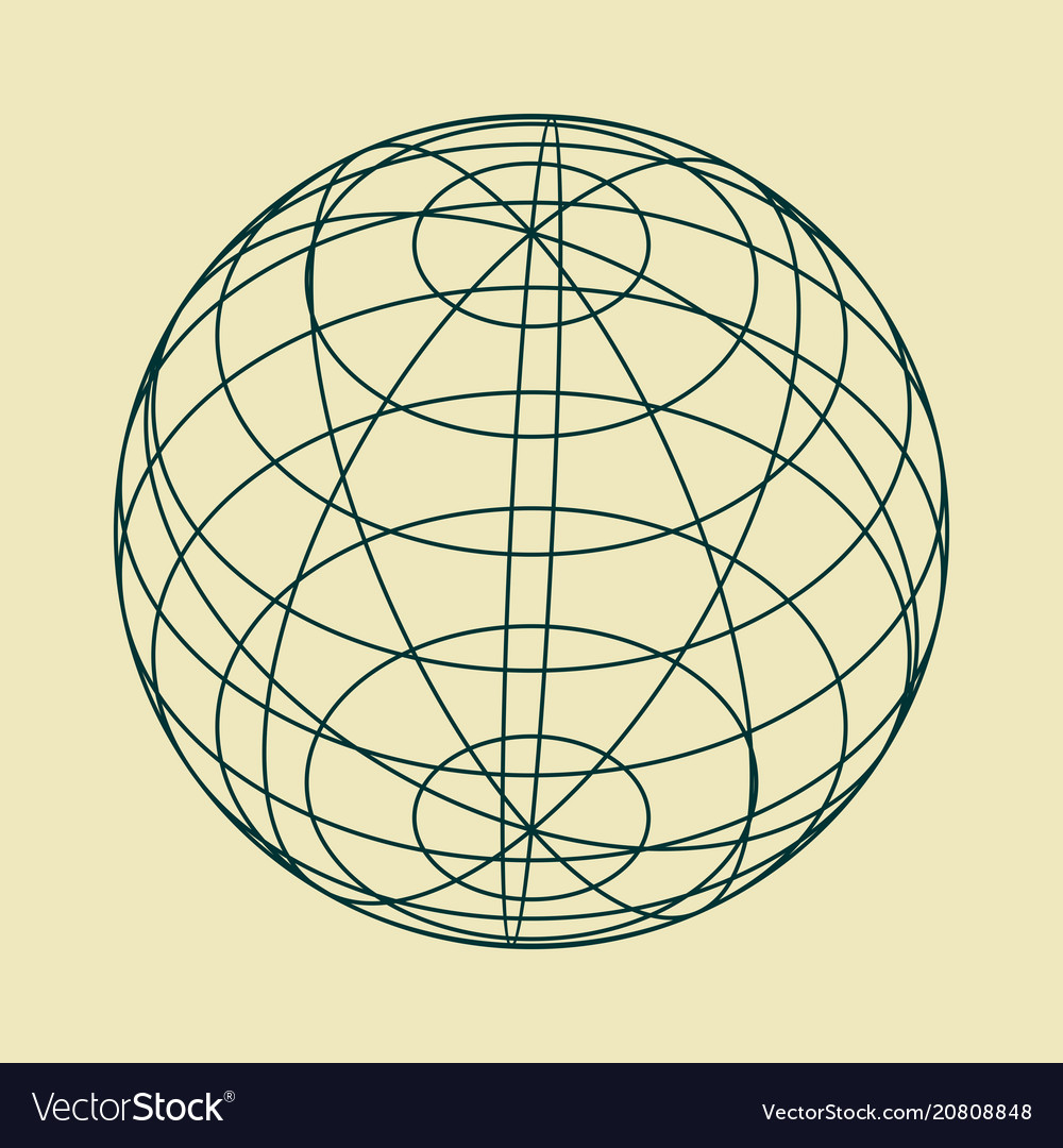 Abstract geometry shape vector image