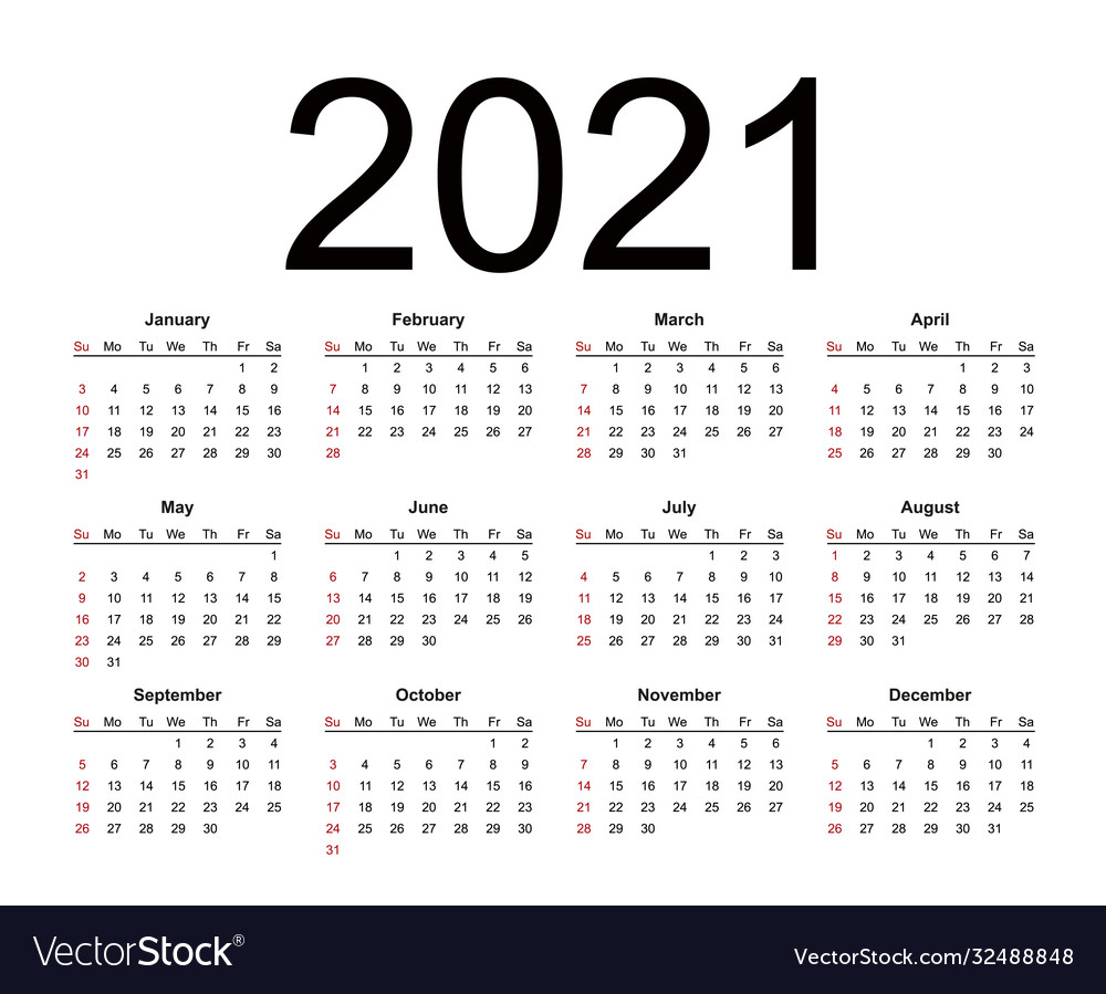 Simple Calendar 2021 Background