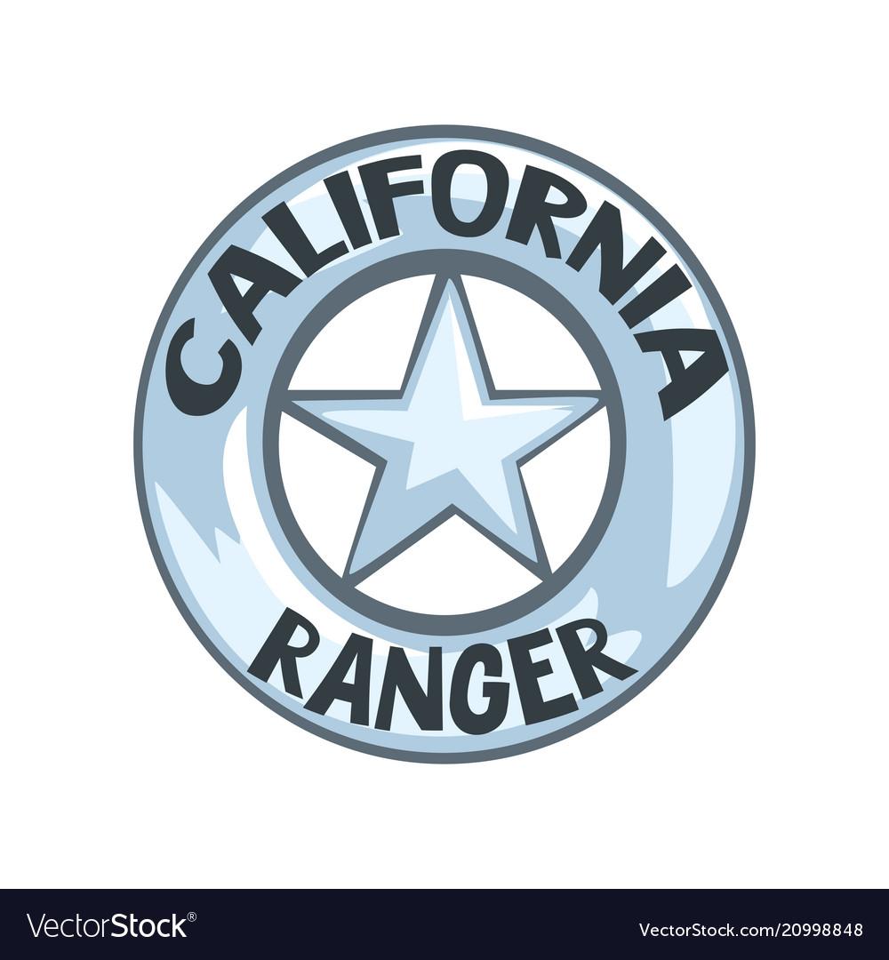 California ranger badge american justice emblem