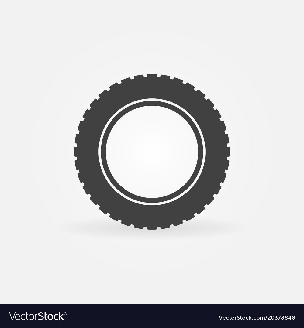 Car Tire Icon Tyre Symbol Or Logo Element Vector Image
