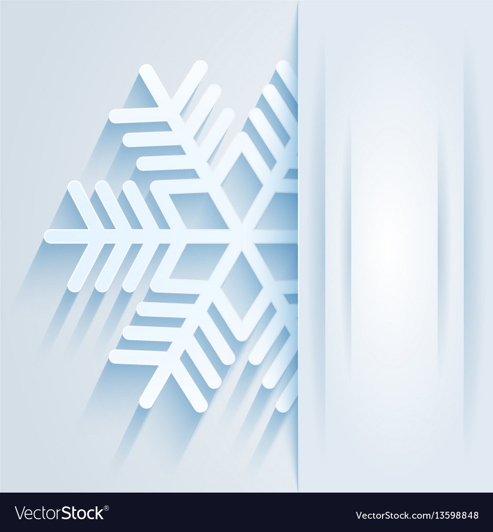 Card with snowflake