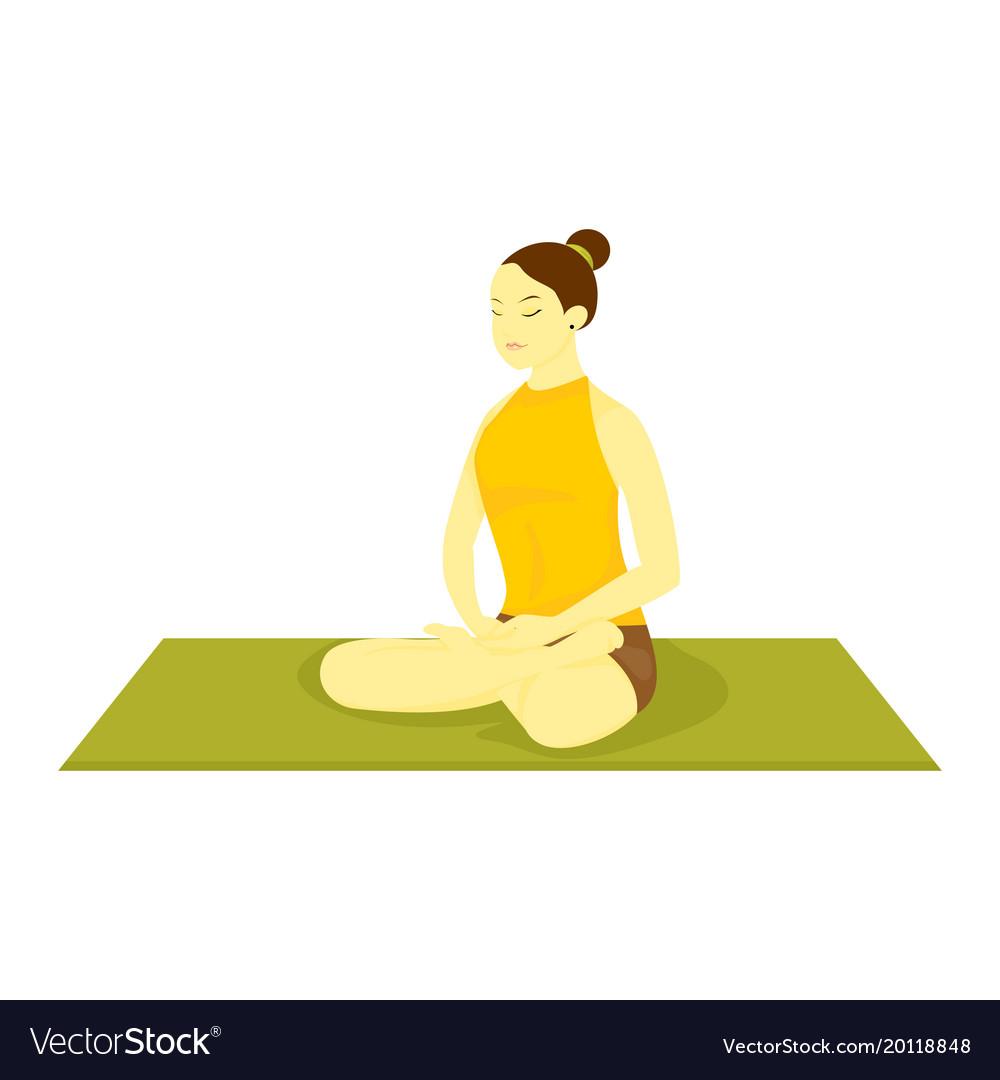 Easy Pose Yoga Meditation Royalty Free Vector Image