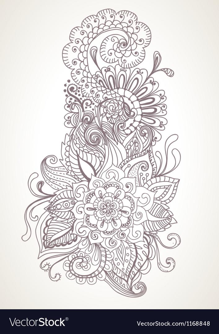 Floral orient ornament