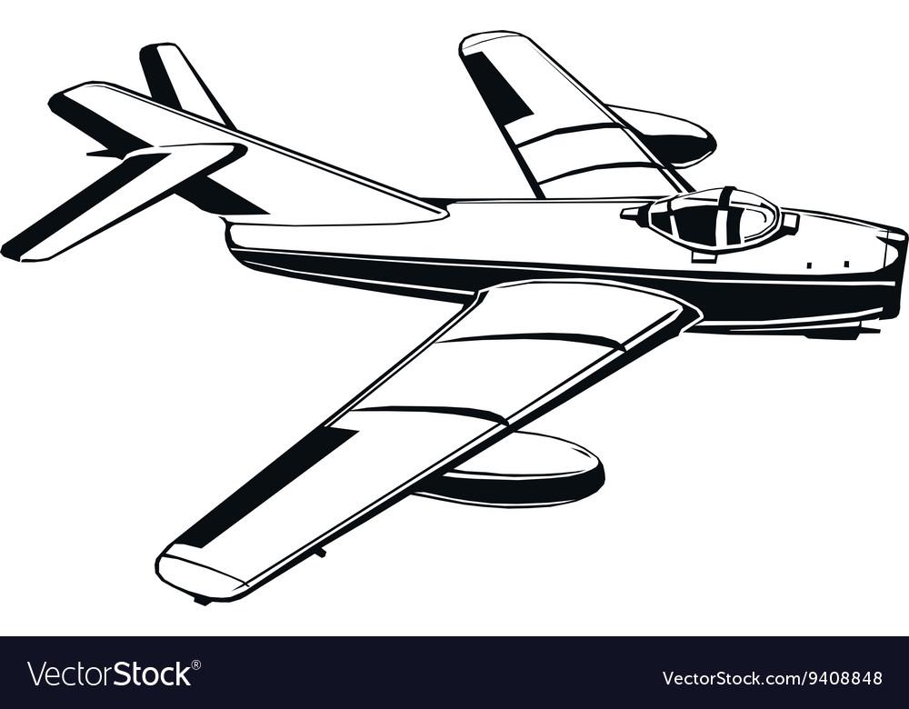 Jet airplane vintage vietnam war