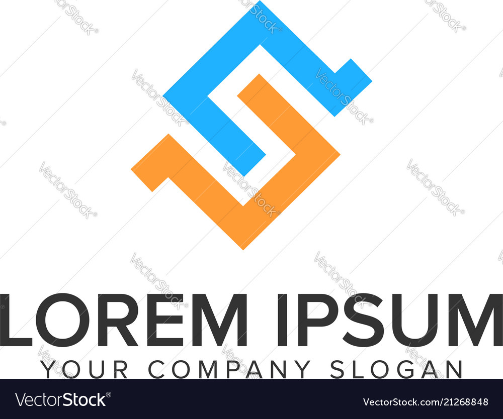Letter s logo design concept template