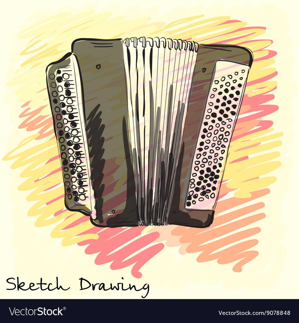 Musical instrument Classical bayan accordion