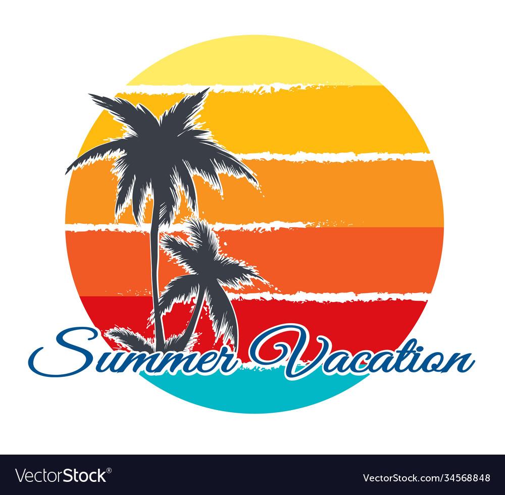 Retro poster summer vacation