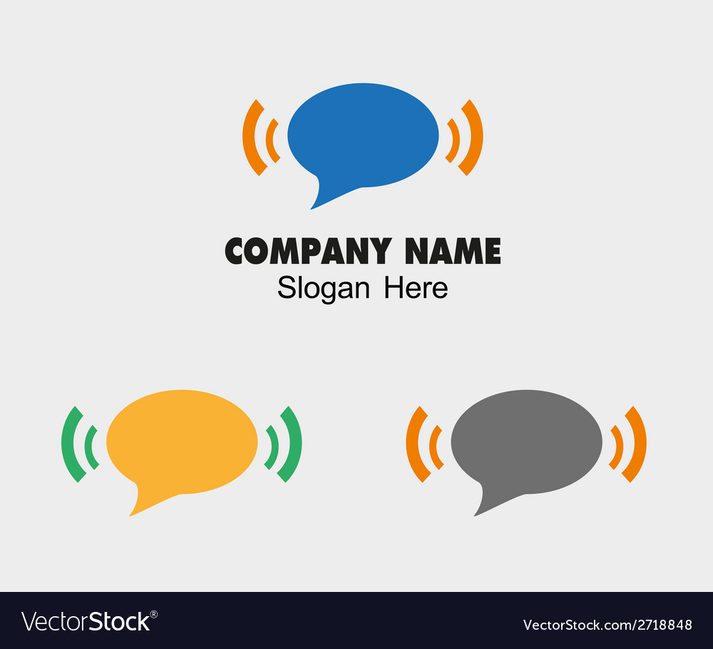 Sms and wifi logo icon vector image