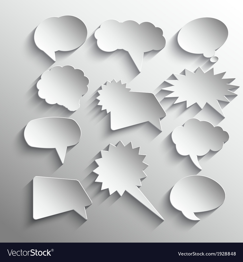 Speech bubbles 0411 vector image
