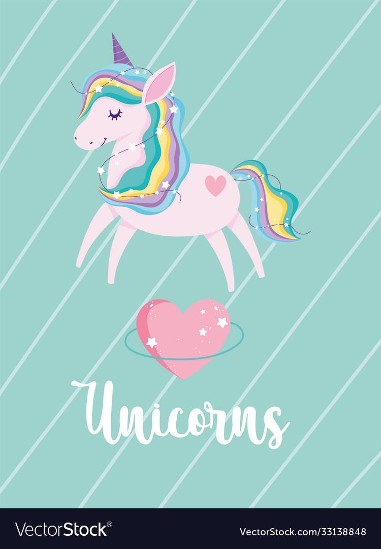 Tangled unicorn stars heart love magic fantasy