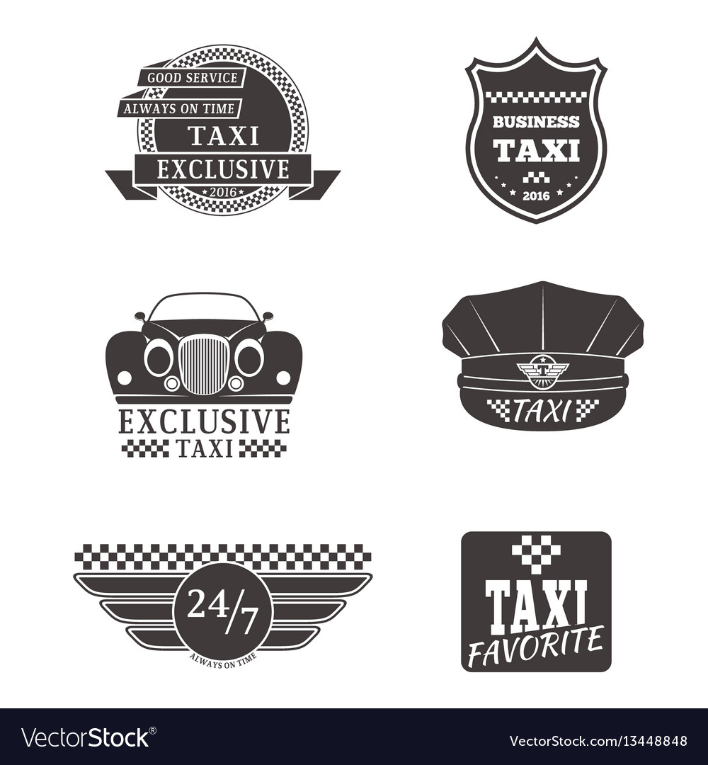 Taxi badge car service business sign template vector image friedricerecipe Images