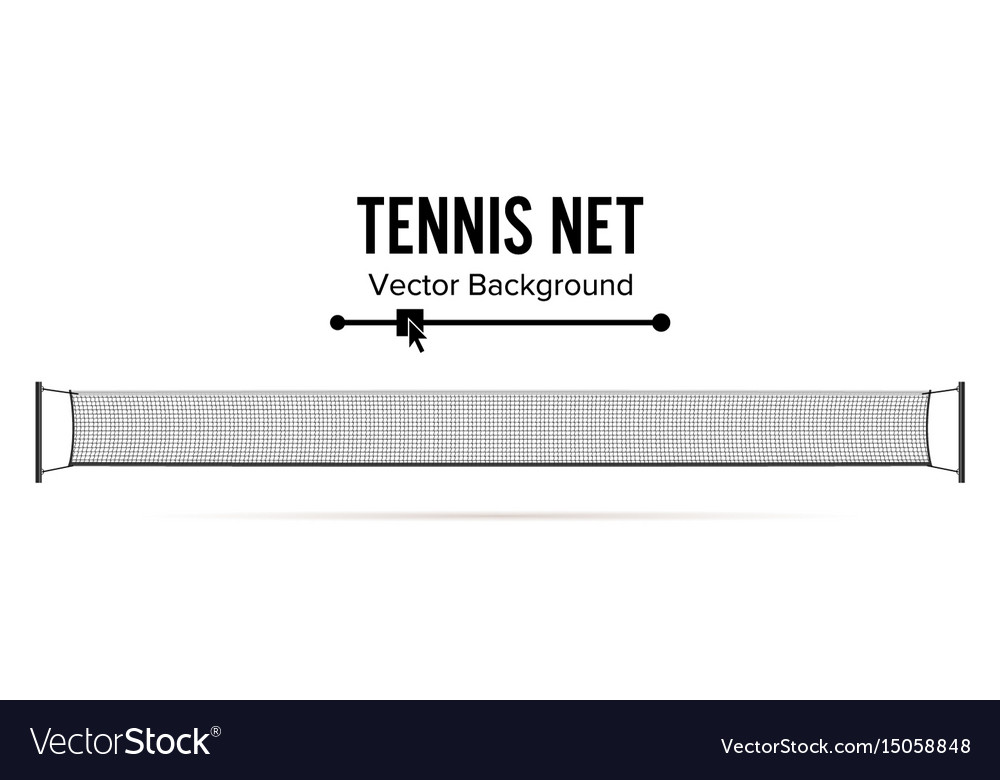 Tennis net realistic net used in the sport vector image