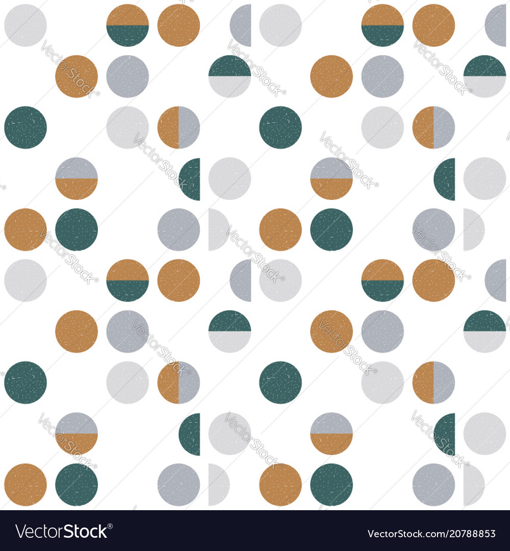 Abstract geometric wallpaper with semi circles