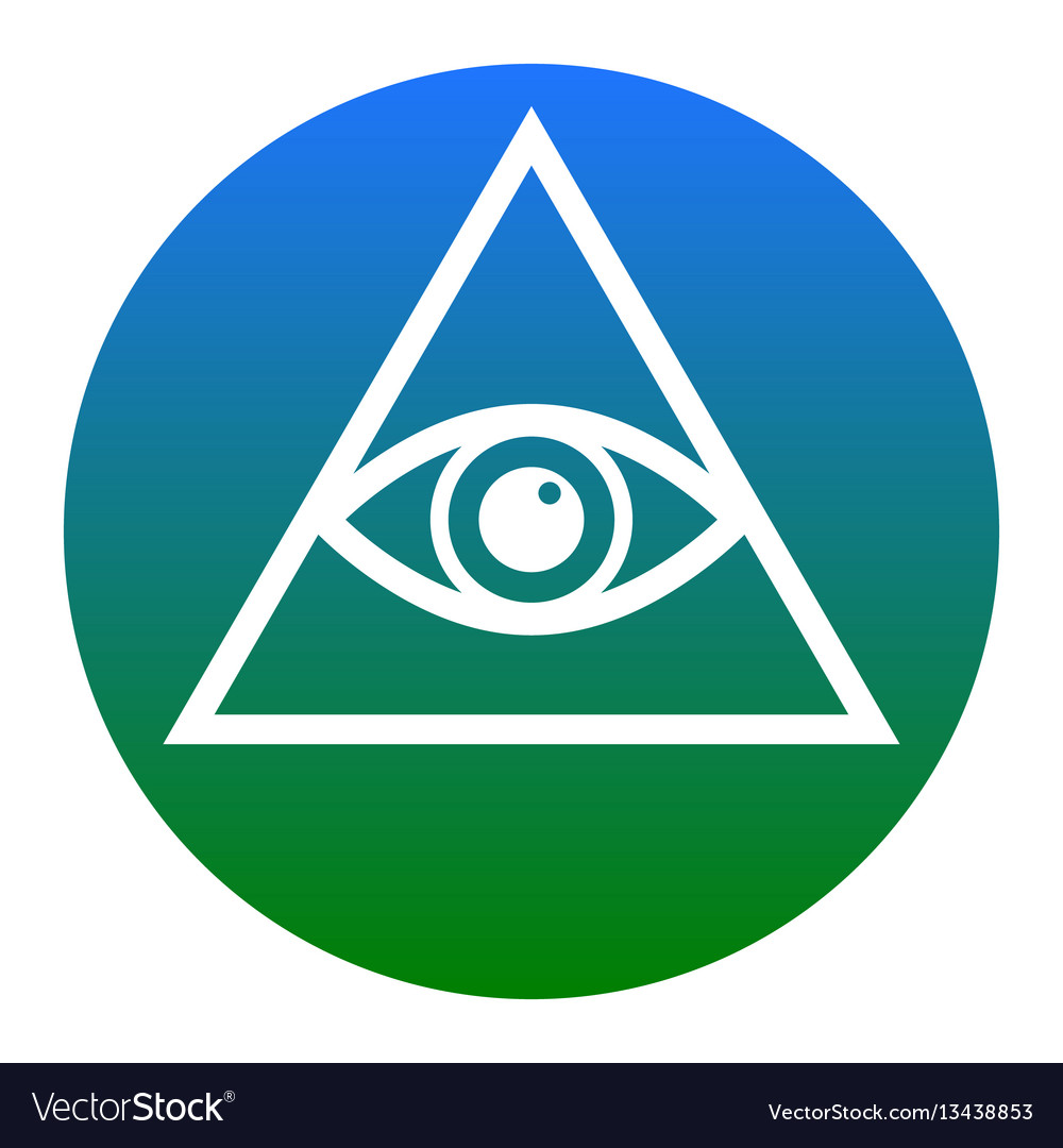 All seeing eye pyramid symbol freemason and