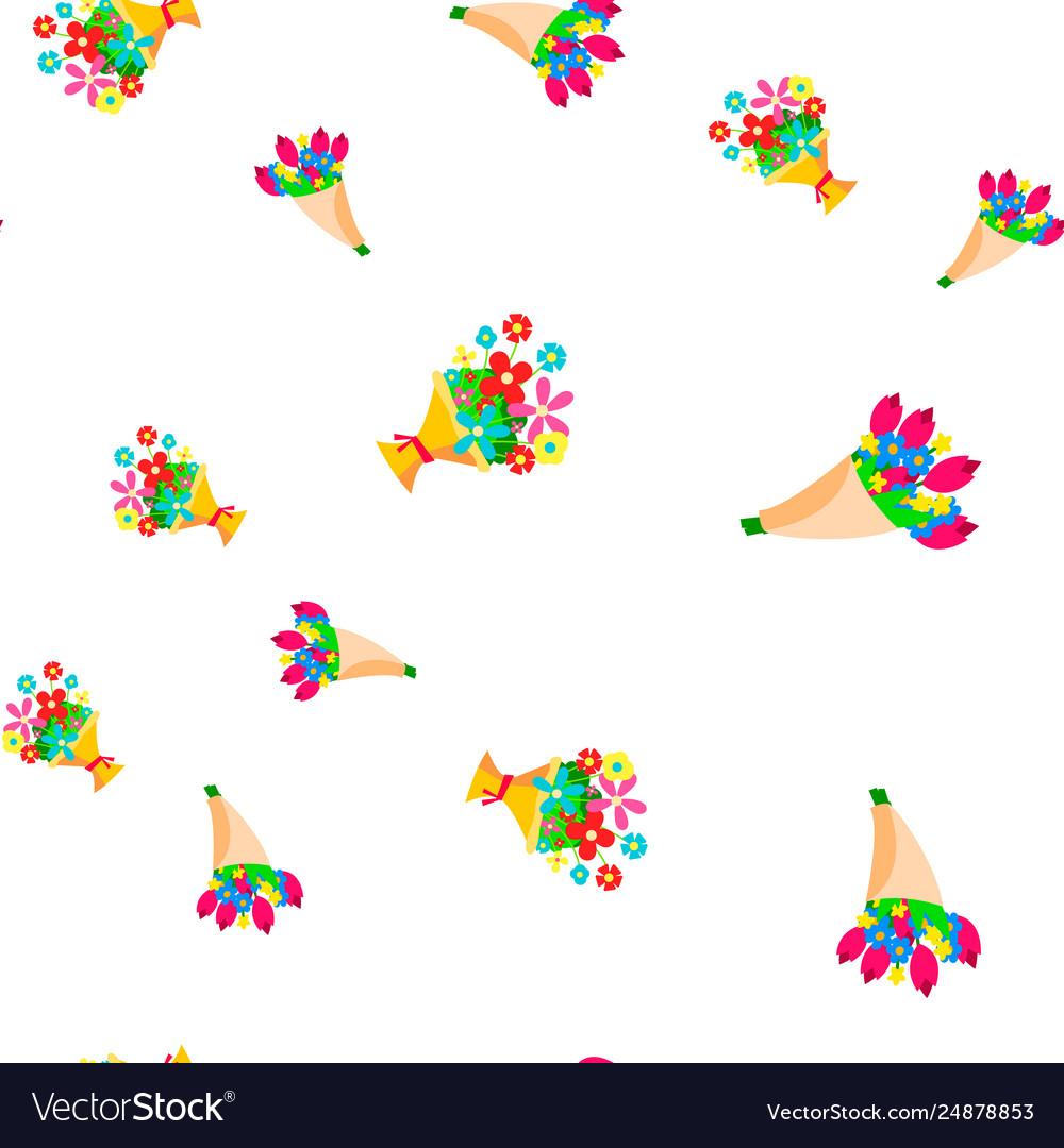 Bouquet flowers seamless pattern floal