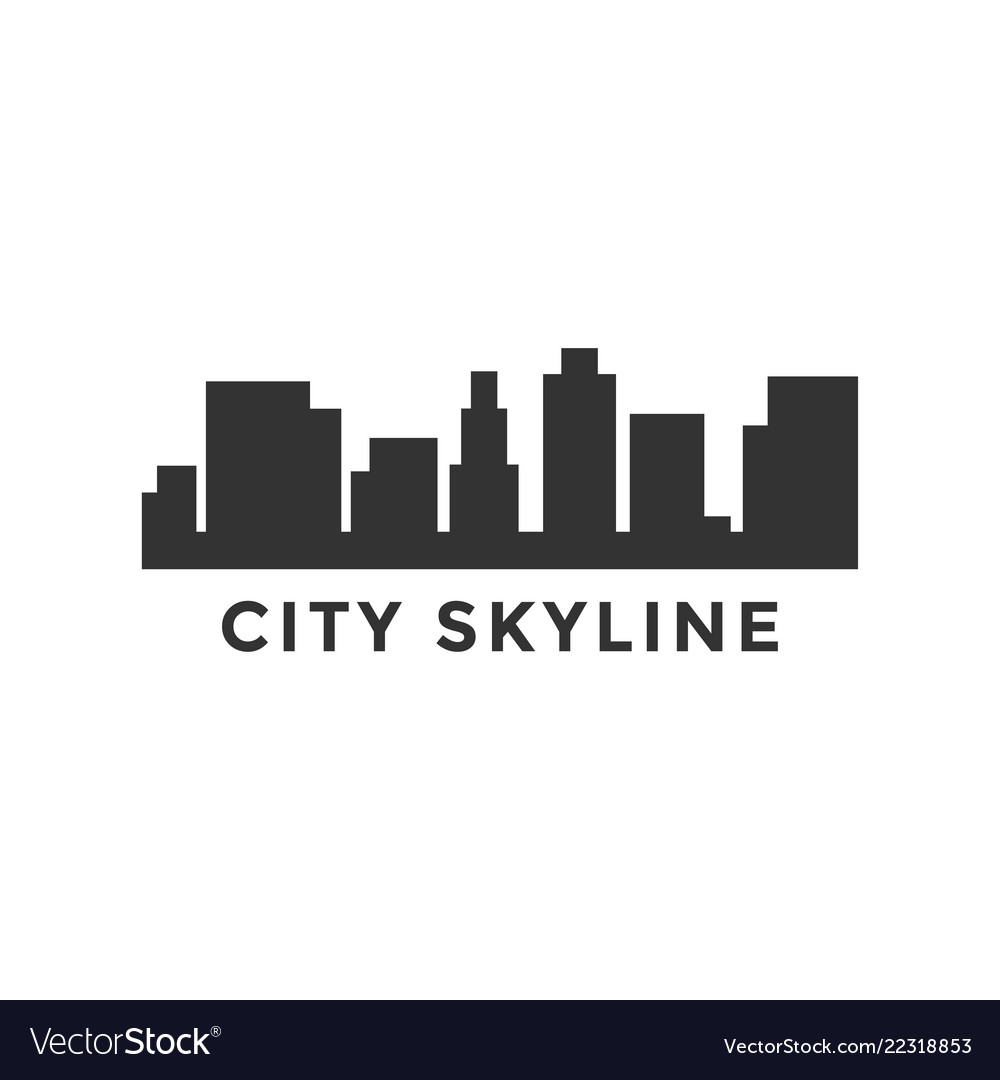 City skyline silhouette design template