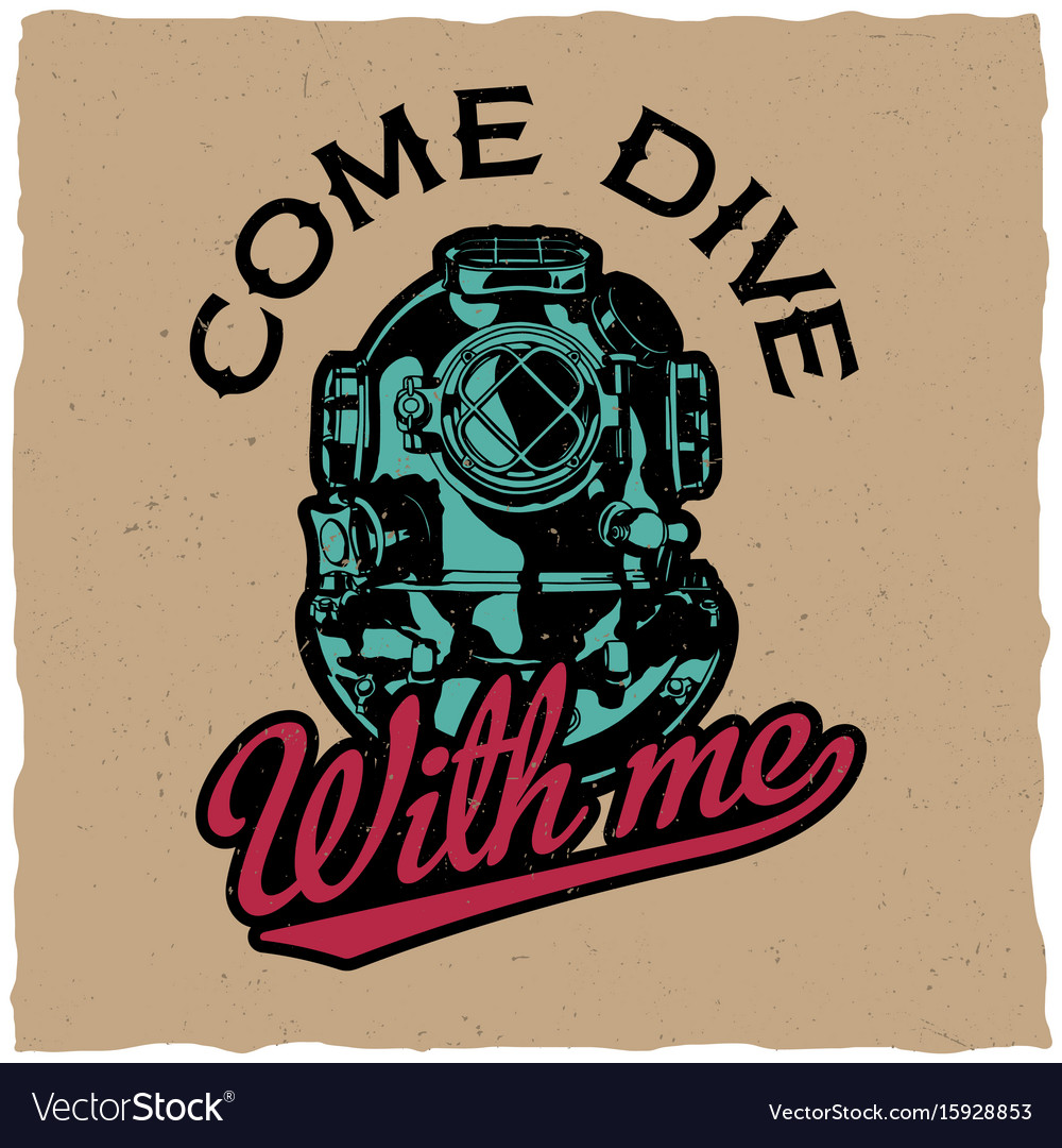 Come dive with me poster