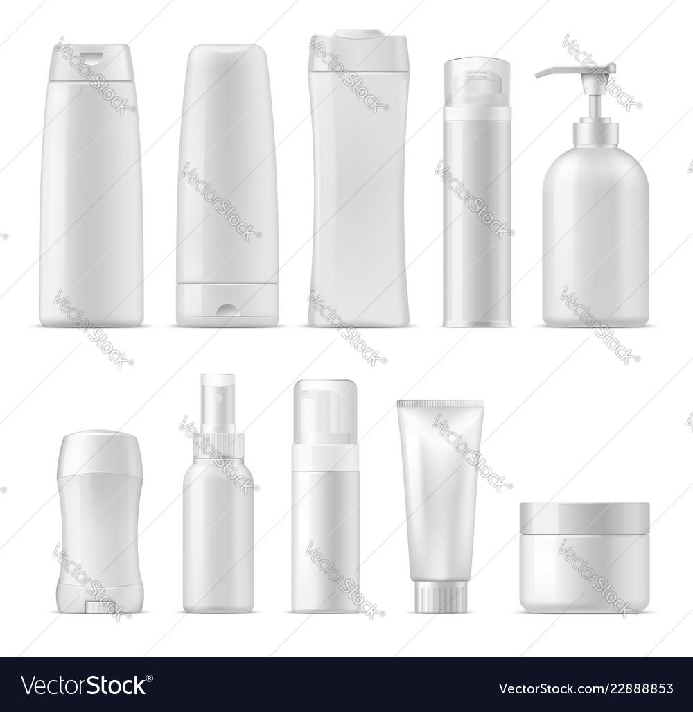 Cosmetic plastic package mockups