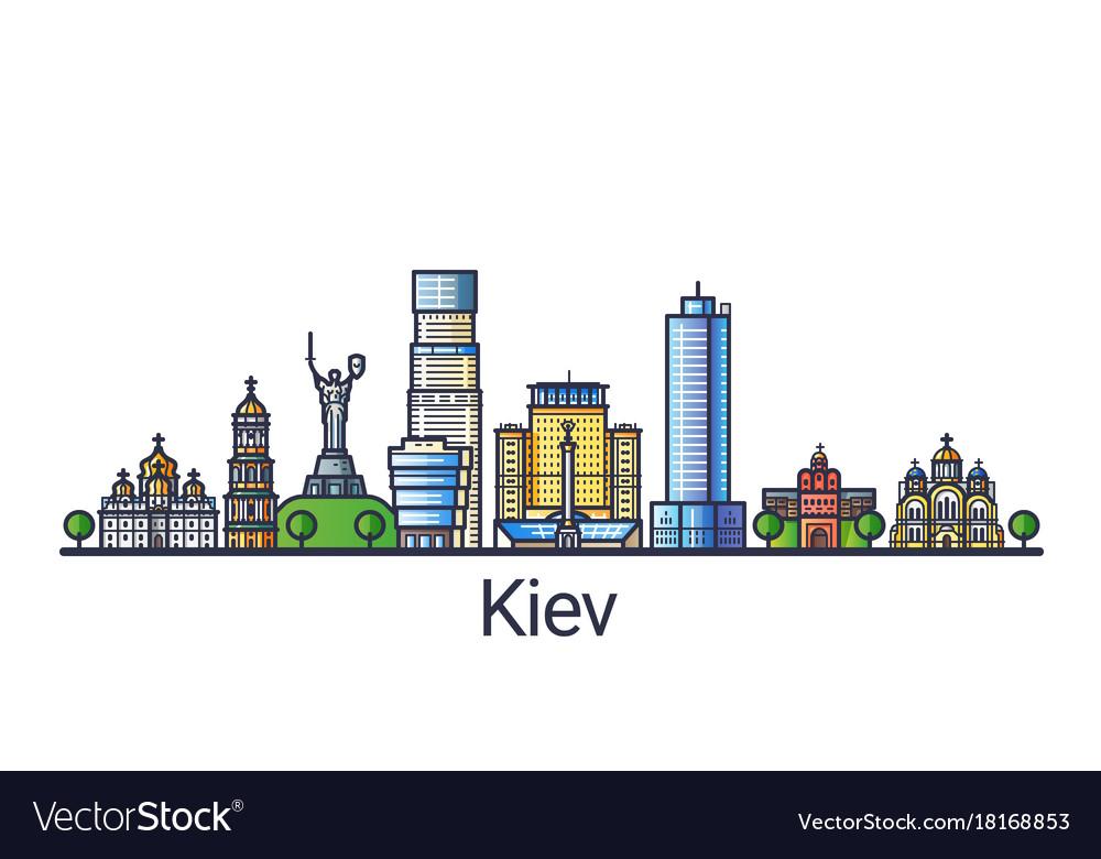 Flat line kiev banner