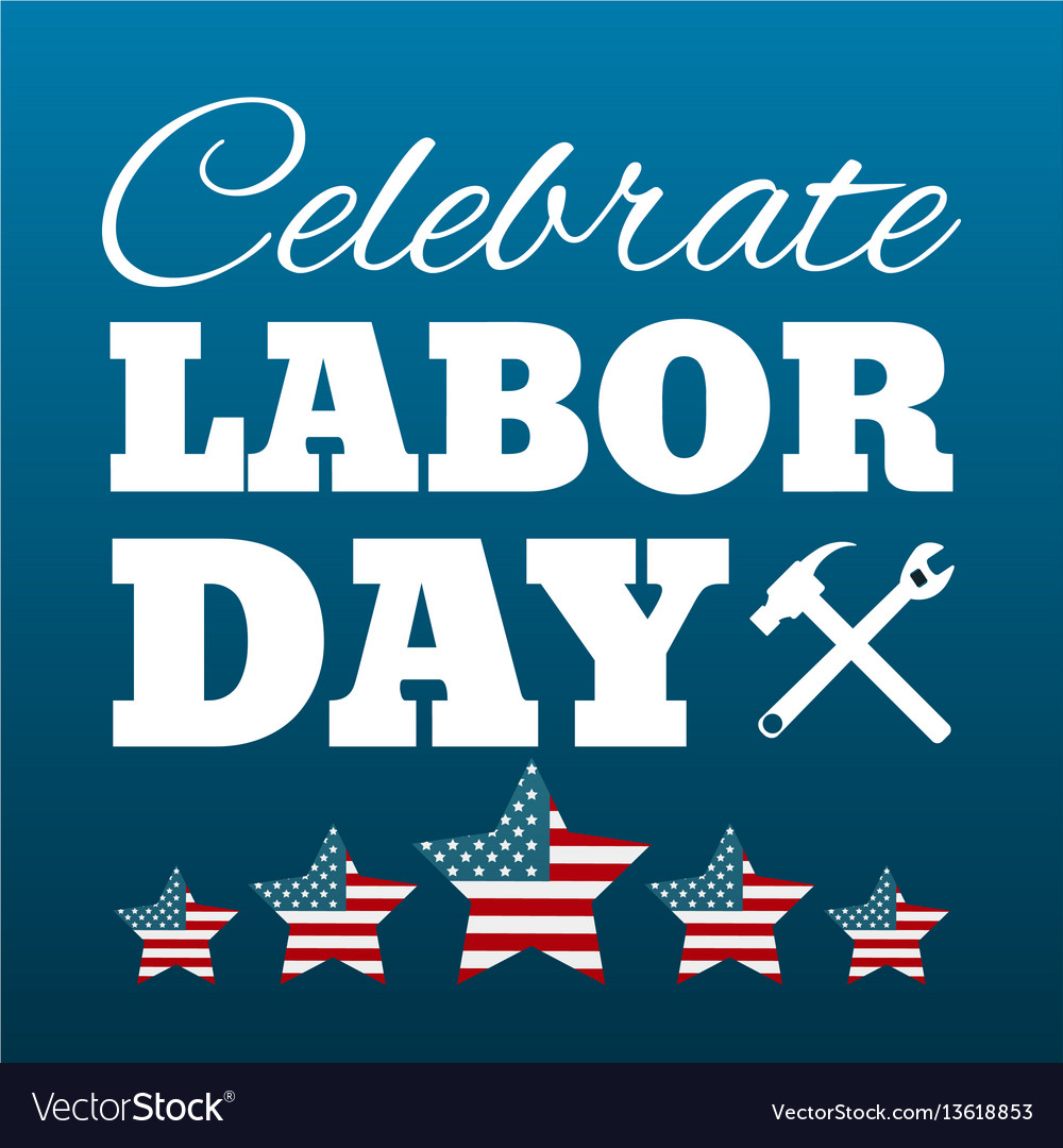 Happy labor day card united states of america