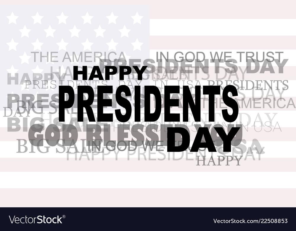 Presidents day flag usa icon words big sale eps