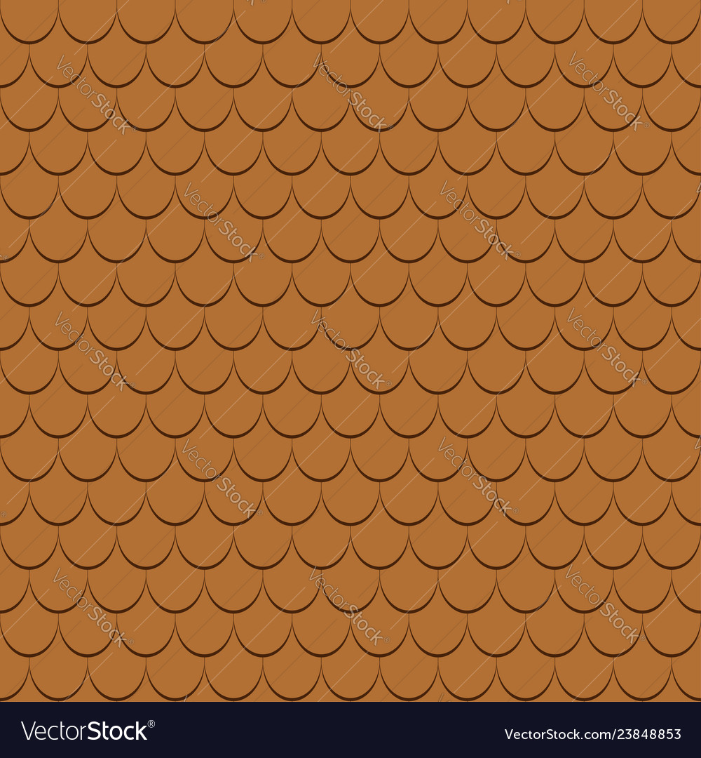 Roof tiles seamless pattern