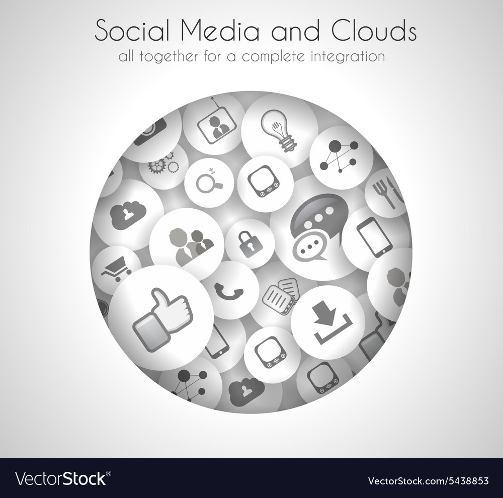 Social Media and Cloud concept background