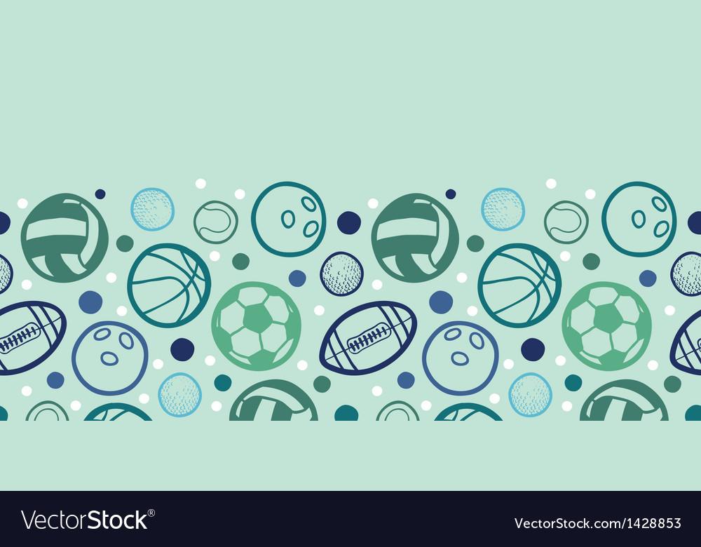 Sports balls horizontal seamless pattern