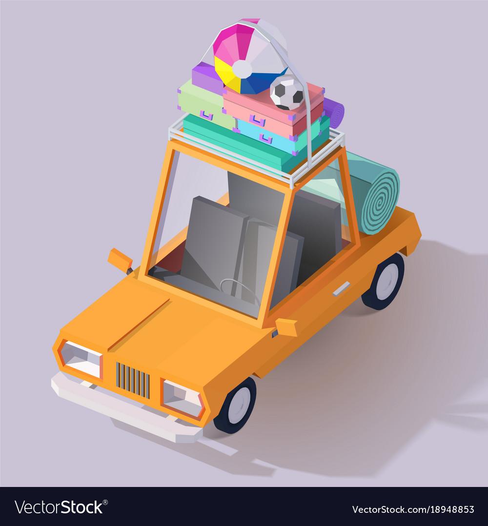 Summer car icon vector image