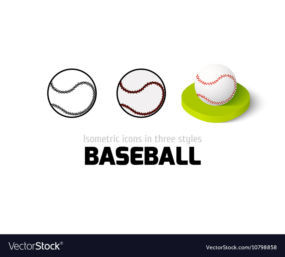 Baseball icon in different style