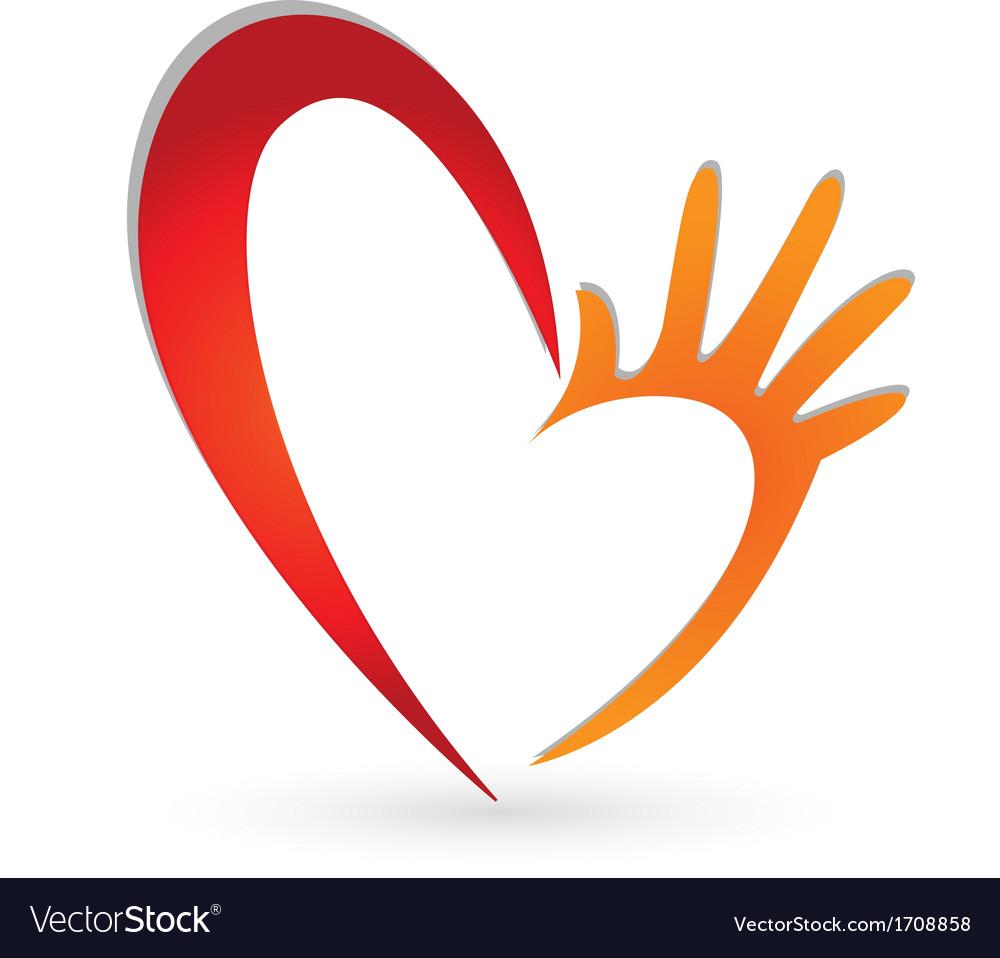 Heart and hand logo