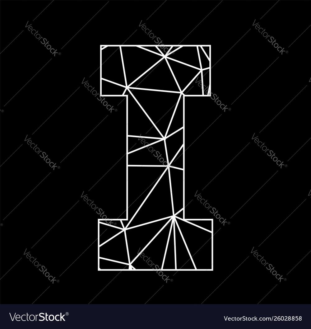 I geometric triangle block chain font