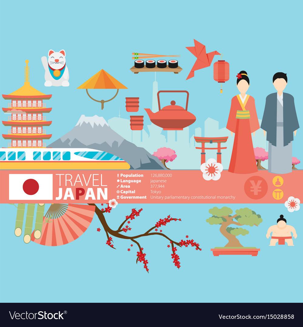 Japan background design on japanese theme