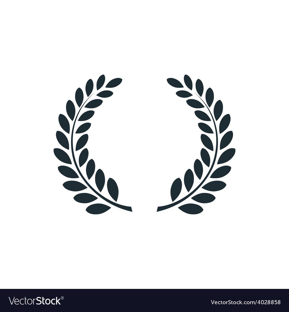 laurel wreath simple concept logo royalty free vector image