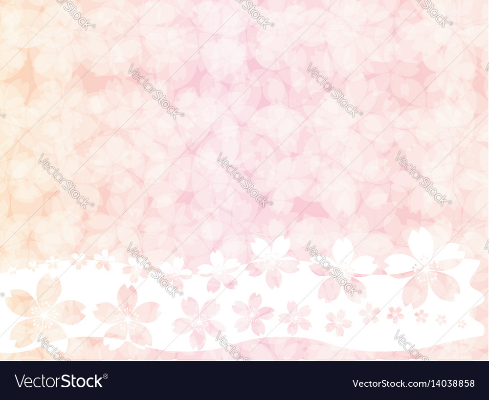 Pink blossom vintage pastel wallpaper background