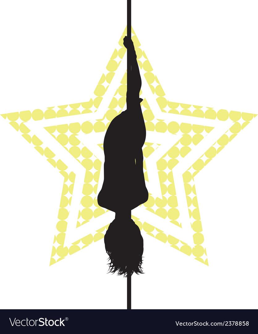 Pole dancer vector image