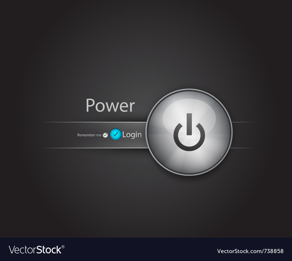 Power login button