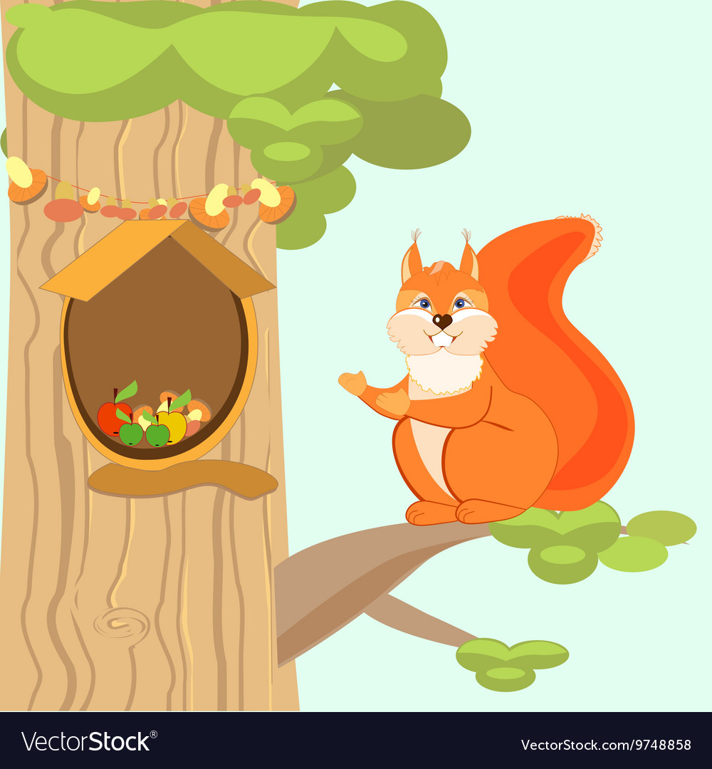 Stupendous Red Fun Squirrel Invites To His Home The Hollow Beutiful Home Inspiration Ommitmahrainfo
