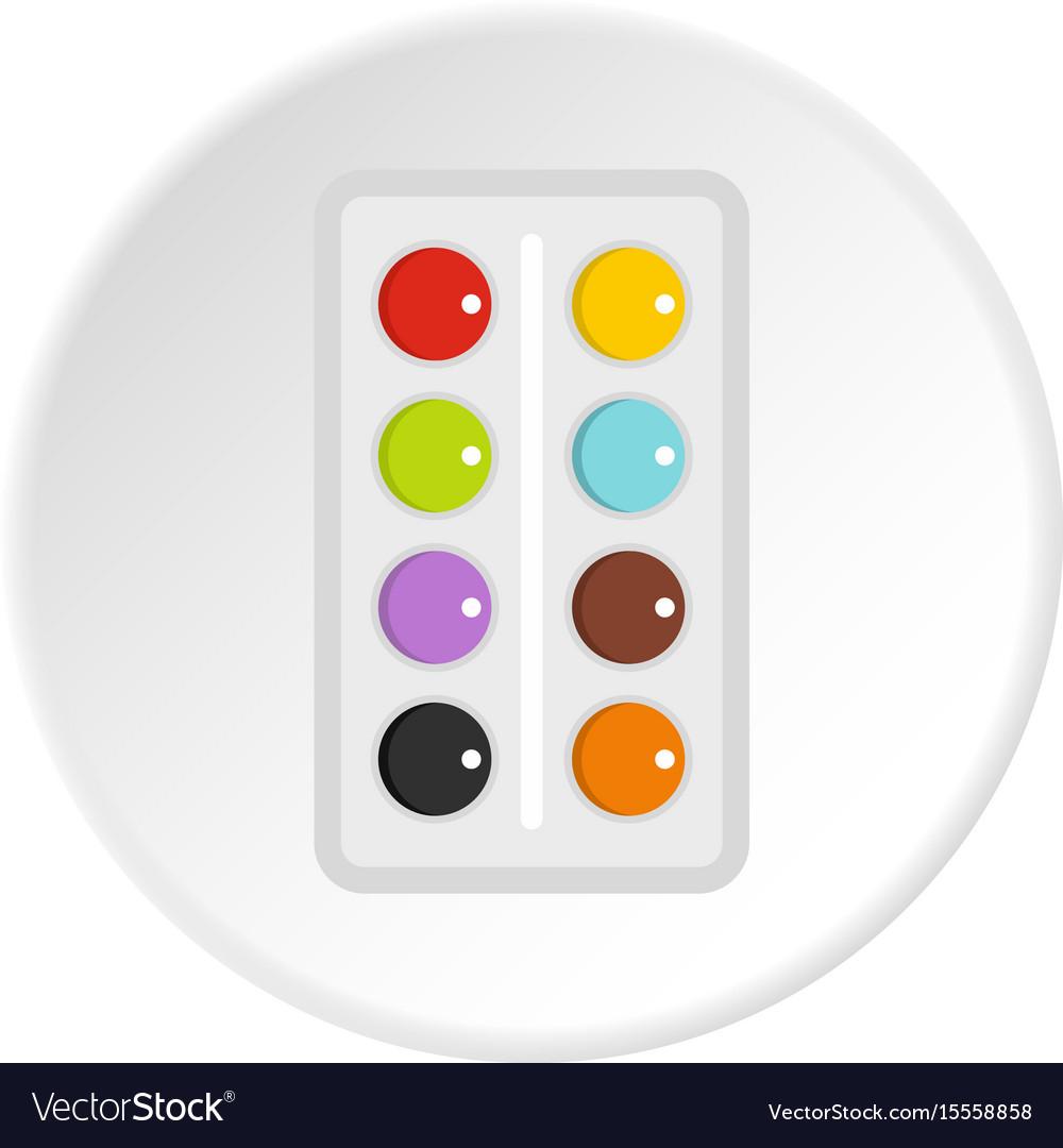 Watercolor icon circle
