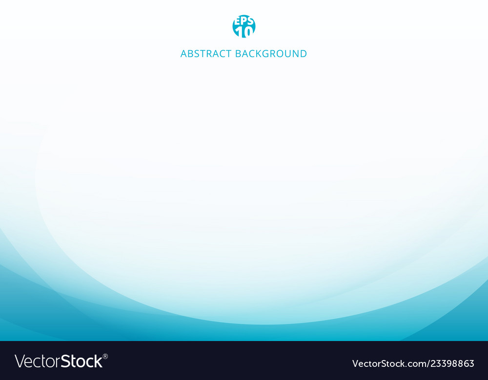 Abstract elegant blue light curve template on