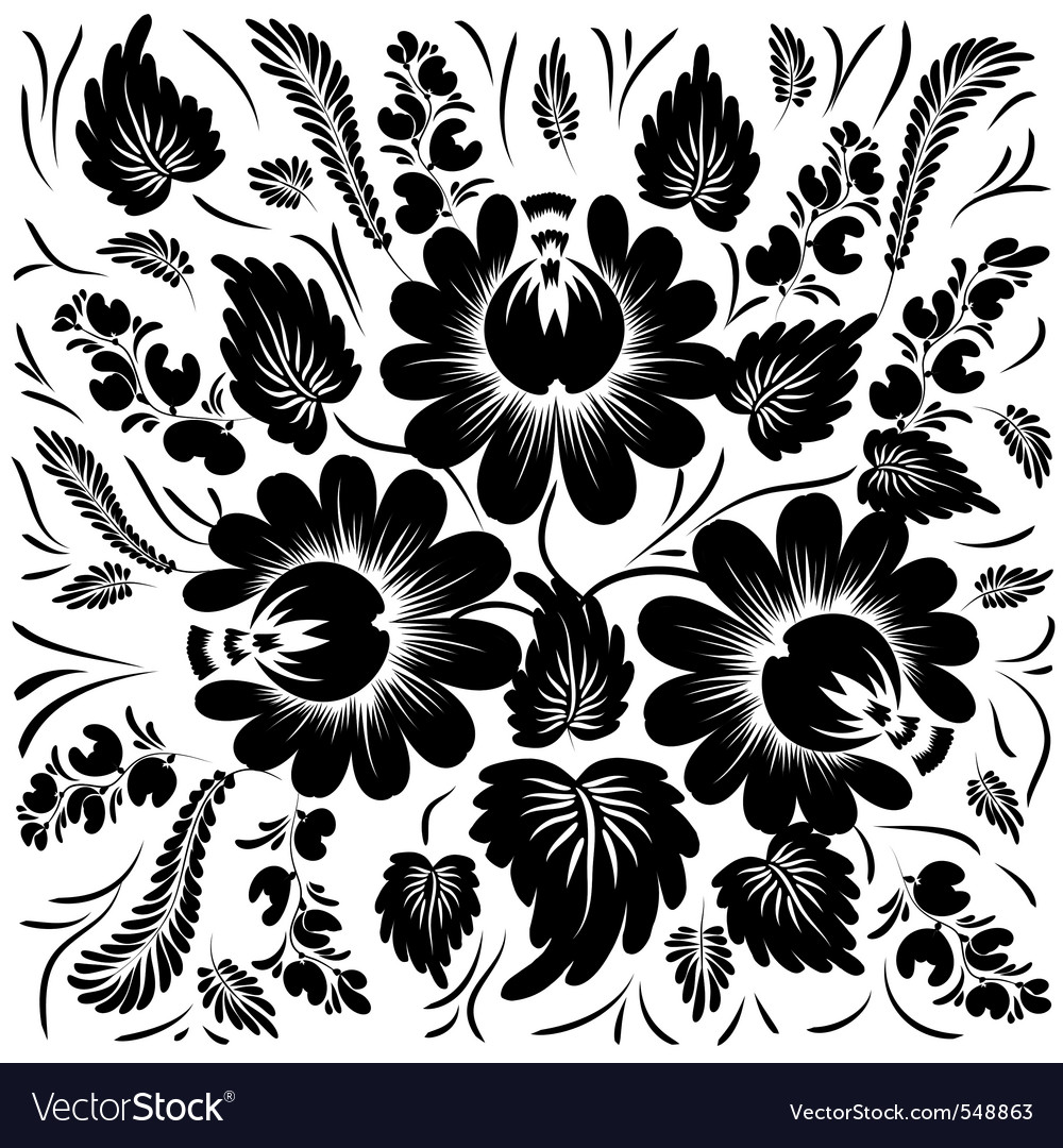 Black flowers on a white background royalty free vector black flowers on a white background vector image mightylinksfo