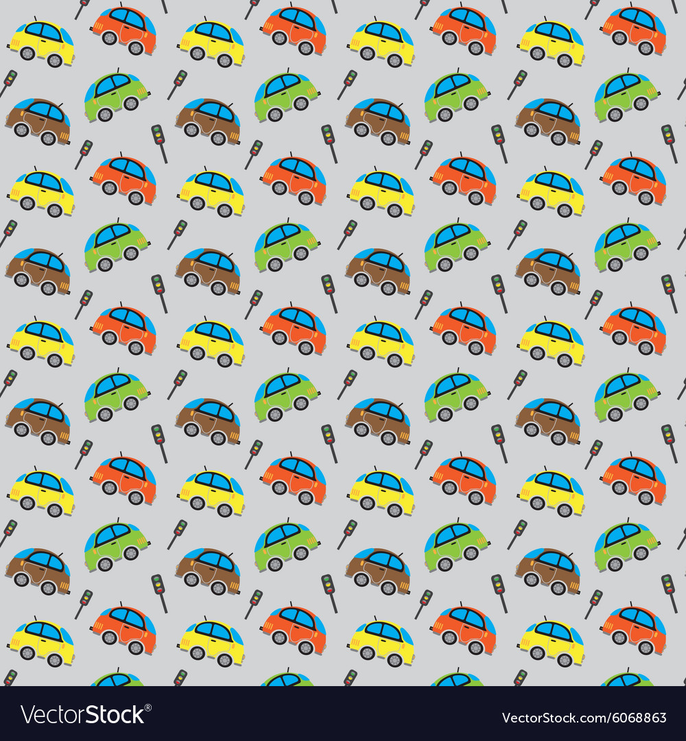 Cute car pattern and Traffic lights