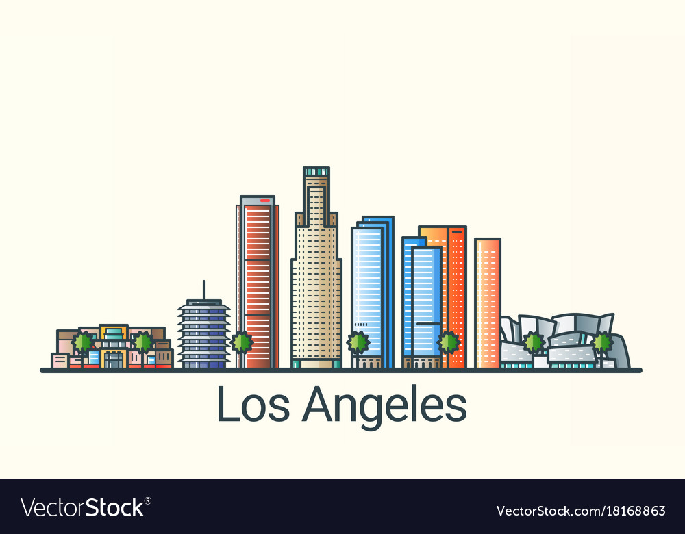 Flat line los angeles banner