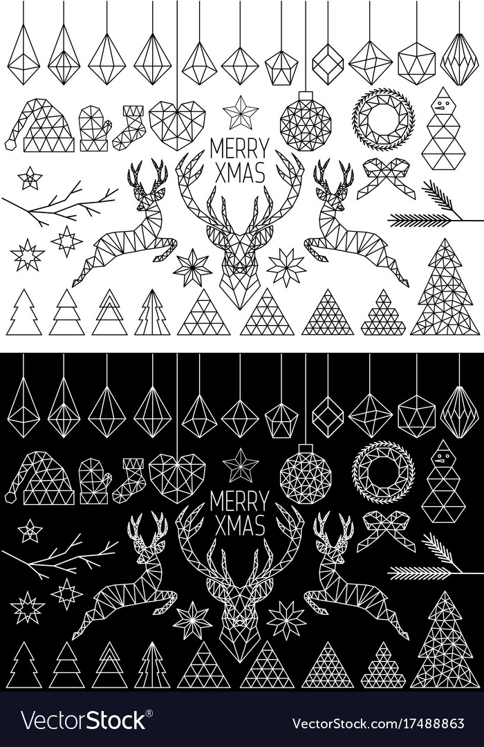Geometric christmas set