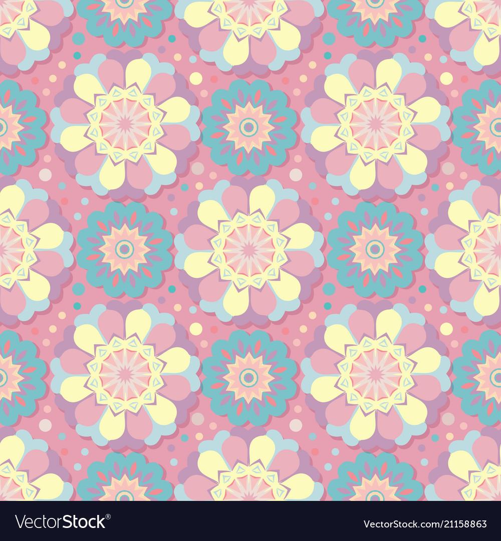 Geometric floral pattern seamless